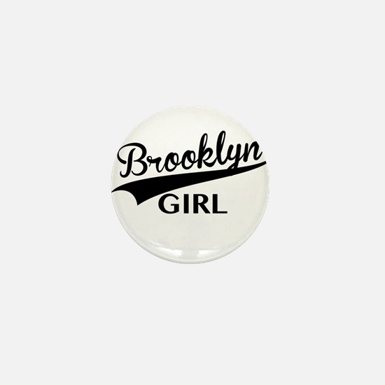 Unique Baseball girl Mini Button
