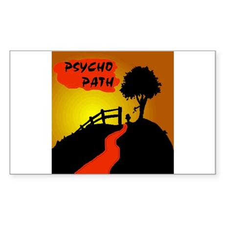 PSYCHO PATH Rectangle Sticker