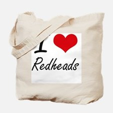 I Love Redheads Tote Bag