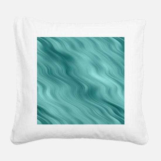 Blue Waves Square Canvas Pillow