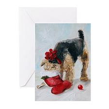 Cute Welsh terrier Greeting Cards (Pk of 10)