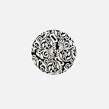 Unique Patterns damask Mini Button