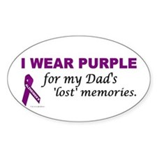 My Dad's Lost Memories Oval Decal
