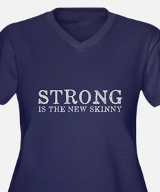 Strong is th Women's Plus Size V-Neck Dark T-Shirt