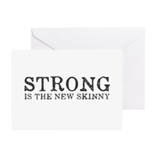 Strong is the New Skinny Greeting Cards (Pk of 20)