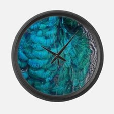 wildlife exotic Blue peacock feathers Large Wall C