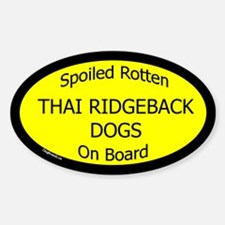 Spoiled Thai Ridgeback Dogs Oval Decal