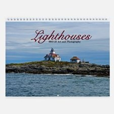 Images Of Lighthouses Wall Calendar