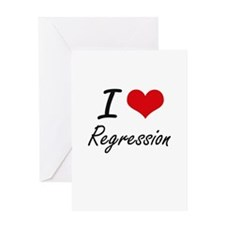 I Love Regression Greeting Cards