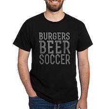 Burgers Beer Soccer T-Shirt