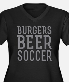 Burgers Beer Soccer Plus Size T-Shirt