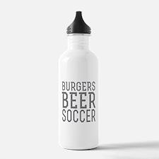 Burgers Beer Soccer Water Bottle