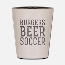 Burgers Beer Soccer Shot Glass