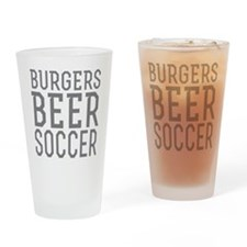 Burgers Beer Soccer Drinking Glass