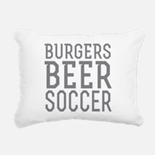 Burgers Beer Soccer Rectangular Canvas Pillow