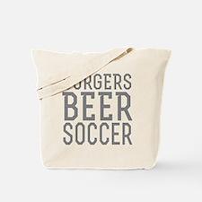 Burgers Beer Soccer Tote Bag