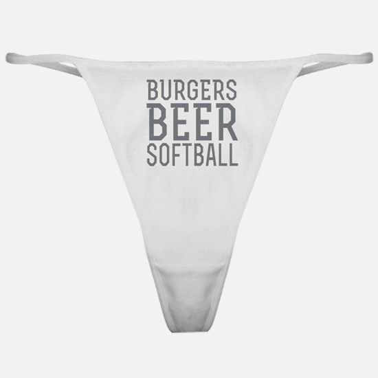 Burgers Beer Softball Classic Thong
