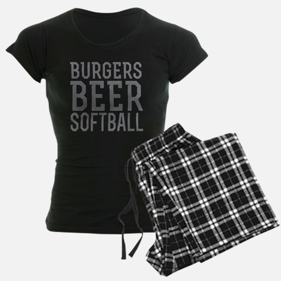 Burgers Beer Softball Pajamas