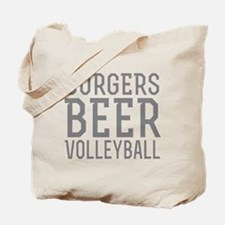 Burgers Beer Volleyball Tote Bag
