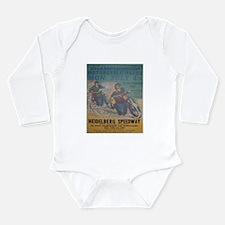 Funny Speedway Long Sleeve Infant Bodysuit