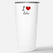 I Love Relics Stainless Steel Travel Mug