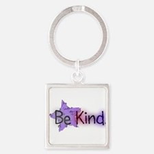 Be Kind with Colorful Text and Purple Star Keychai