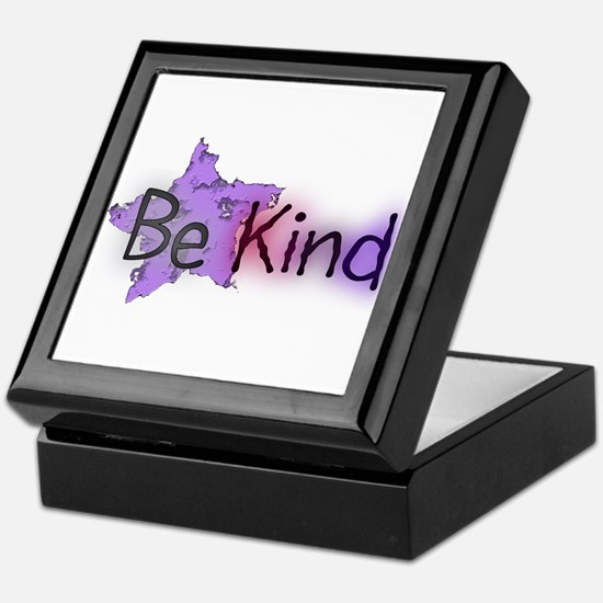 Be Kind with Colorful Text and Purple Star Keepsak