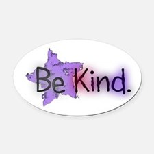 Be Kind with Colorful Text and Purple Star Oval Ca