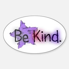 Be Kind with Colorful Text and Purple Star Decal