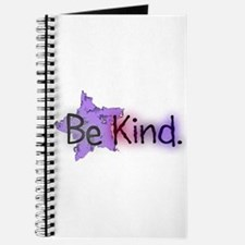 Be Kind with Colorful Text and Purple Star Journal
