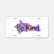 Be Kind with Colorful Text and Purple Star Aluminu