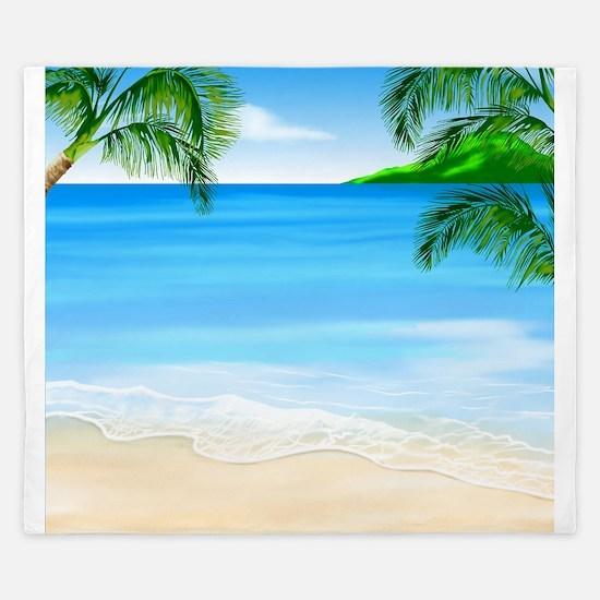Beach Painting King Duvet