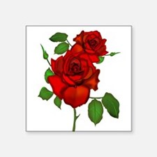 "Cute Roses Square Sticker 3"" x 3"""