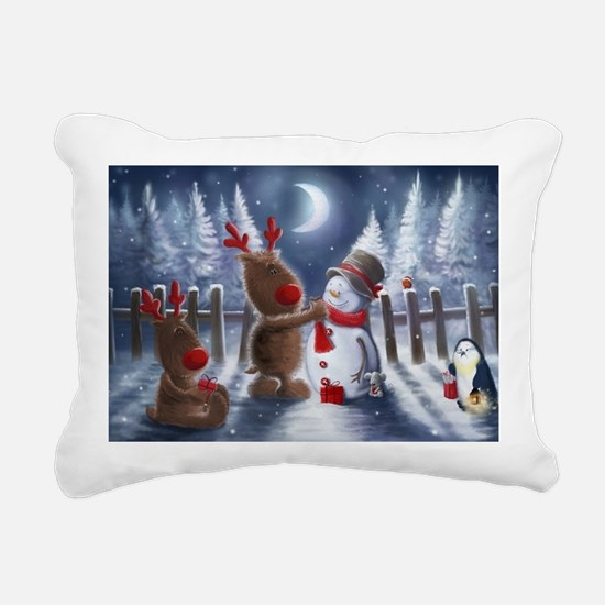 Christmas reindeer Rectangular Canvas Pillow