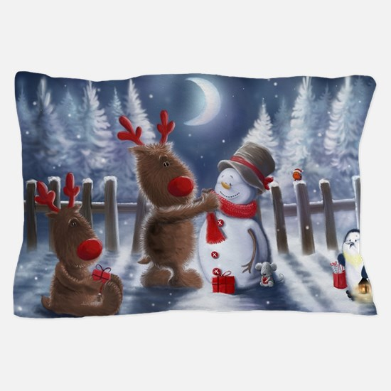 Christmas reindeer Pillow Case