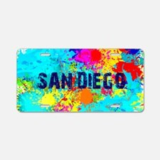 SAN DIEGO CALIFORNIA BURST Aluminum License Plate