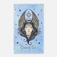 Moon Goddess Blessed Be and Background Area Rug
