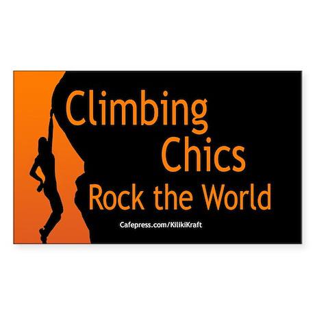 Climbing Chics Rectangle Sticker