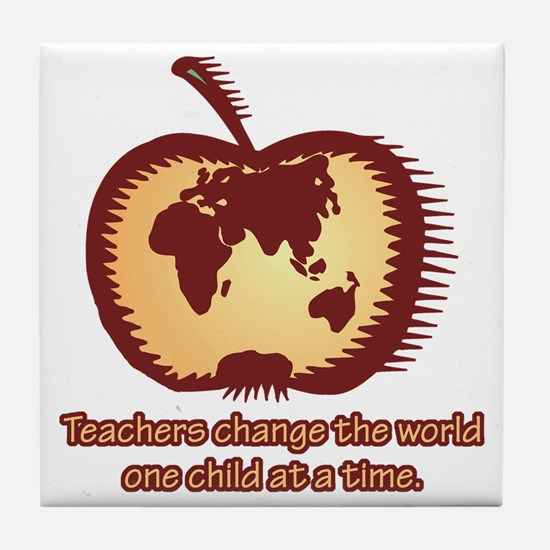 Teachers Changing the World Tile Coaster