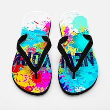 NEW YORK BURST Flip Flops
