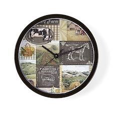 farm,country Wall Clock