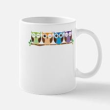 Cute Colorful Owls Mugs