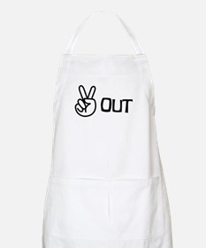 Peace Out BBQ Apron