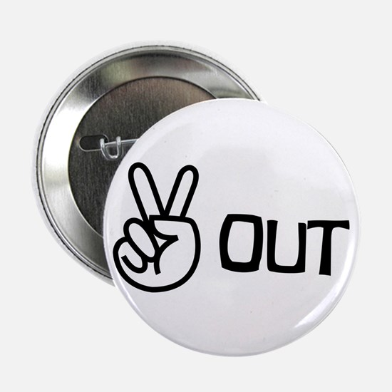 Peace Out Button