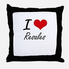 I Love Resales Throw Pillow