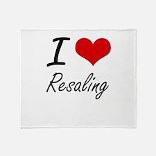 I Love Resaling Throw Blanket