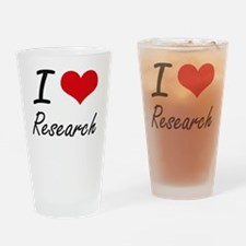 I Love Research Drinking Glass