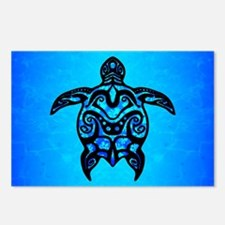 Tribal Turtle Hibiscus Postcards (Package of 8)