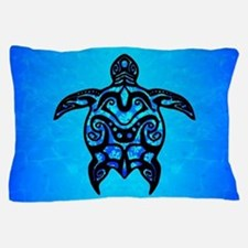 Tribal Turtle Hibiscus Pillow Case