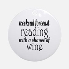 Reading and Wine Round Ornament